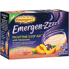 Emergen-C Emergen-Zzzz Nighttime Sleep Aid (Peach, 24 Ct)
