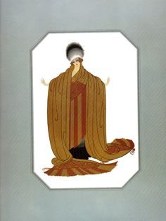 KING'S FAVORITE Chic Original Vintage ERTE Art Deco Print Fashion Book Plate