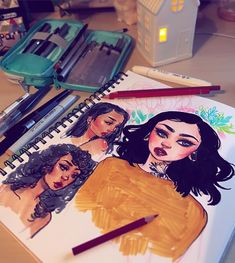 "26.5k Likes, 53 Comments - Jacquelin de Leon (@jacquelindeleon) on Instagram: ""Sketchbook doodles for tonight! A few girls and a fun little sketch of @ahhhhlex_ (she always has…"""