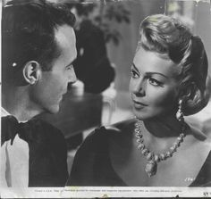 Ricardo Montalban and Lana Turner in Madame X (1966)    DAVID WEBB TURQUOISE AND DIAMOND NECKLACE AND EARRINGS. BEAUTIFUL!!!!!