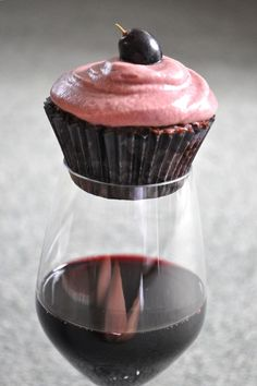 red wine cupcakes + red wine = perfection. @Andrea / FICTILIS / FICTILIS Conner @Emily Schoenfeld Schoenfeld Guice