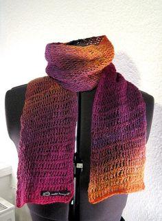 The color blast scarf. Tunisian crochet.