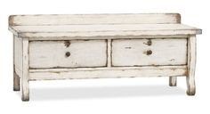 Pottery Barn primitive storage bench..would be great in miniature