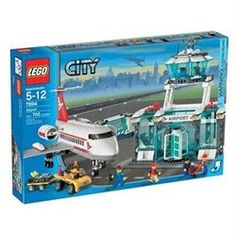 Lego City Set #7894 Airport (00673419078399) There's adventure in the air at the City Airport! This classic set was first introduced in 1994 and is as bustling as a real airport. Check the schedules and book your flight, then taxi down the runway on the speedy passenger jet. Watch the forklift load cargo onto the helicopter on the nearby helipad. You'll find everything you'd see at a real airport, from a rolling baggage cart to a refueling car. This set features: * A passenger airplane * 2…