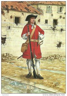 The Scots Guards, Private - Guards, Flanders British Army Uniform, British Uniforms, Military Art, Military History, Military Uniforms, Anglo Dutch Wars, Spanish War, English Army, British Armed Forces