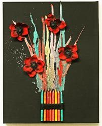 Melted Crayon Bouquet - black canvas - CLICK HERE