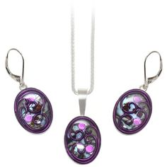 Browallia Abalone Set ($329) ❤ liked on Polyvore featuring jewelry, pendant jewelry, abalone jewelry and abalone pendant