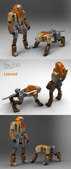 The zoo serie, Lionoid by Mani Zamani, via Behance