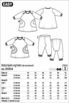 Babykjole og buks - 81014 - Stof & Stil