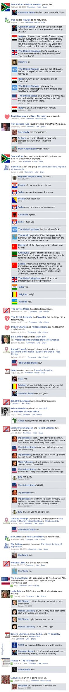 Facebook News Feed History of the World > 1990s