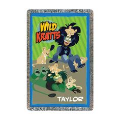 Wild Kratts throw in blue with lions