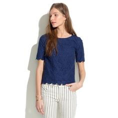 Madewell Lace Bloom Top First Photo from Internet. Good condition Madewell Tops