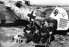 Luftwaffe aces and their pets Aircraft Photos, Ww2 Aircraft, Military Aircraft, Luftwaffe, Photo Avion, Me 109, Focke Wulf, Ww2 Planes, World War Two