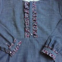 Source by clothes kurti Salwar Neck Designs, Kurta Neck Design, Neck Designs For Suits, Sleeves Designs For Dresses, Kurta Designs Women, Dress Neck Designs, Sleeve Designs, Blouse Designs, Stylish Dresses For Girls