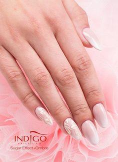 by Paulina Walaszczyk Indigo Educator :) Find more inspiration at www.indigo-nails.com #nailart #nails #indigo #pastel #ombre #sweety #white #sugar