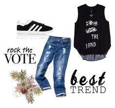 """""""rock"""" by x20x20 ❤ liked on Polyvore featuring Melissa McCarthy Seven7, adidas, Tommy Hilfiger and plus size clothing"""