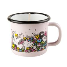 A moment together enamel mug 1,5 dl with candle by Muurla - The Official Moomin Shop  - 1