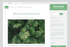 The Lontano free WordPress blogging theme. More info: http://curatable.net/20-free-wordpress-themes-i-would-actually-use-to-start-a-new-blog-in-2016/