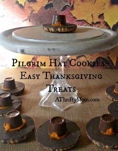 Pilgrim hat cookies,