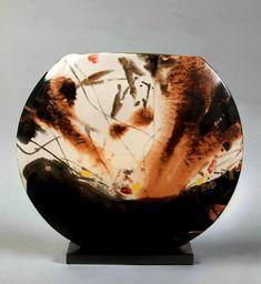 Oriental abstract vase by Chu Teh Chun for Sevres Raymond Dreyfus Gallerie