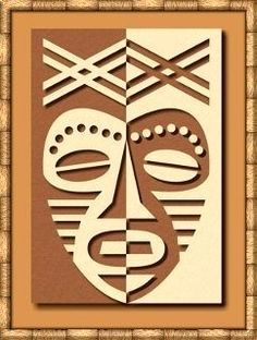 African Mask Lesson - Pos / Neg Space Great link to other wonderful lesson ideas that incorporate art history.: