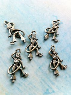 Girl hula hooping Charms