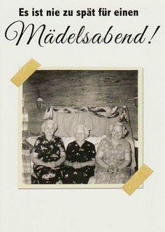 """witzige Postkarte, lustige Sprüche """"Mädelsabend"""" in Möbel & Wohnen, Feste & Besondere Anlässe, Karten & Schreibwaren   eBay"""