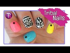 Tribal Pattern Nails - TotallyCoolNails - http://www.nailtech6.com/tribal-pattern-nails-totallycoolnails/