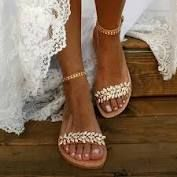 Apr 2020 - Buy it before it ends. There is always many products on sae upto - NAN JIU MOUNTAIN Summer Flat Sandals Women Fashion Rhinestone Open Toe Buckle Sandals Wedding Party Plus Size - Pro Buyerz Beach Wedding Sandals, Bridal Sandals, Wedding Flats, Bridal Shoes, Summer Sandals, Gold Wedding, Elegant Wedding, Low Heel Sandals, Flat Sandals