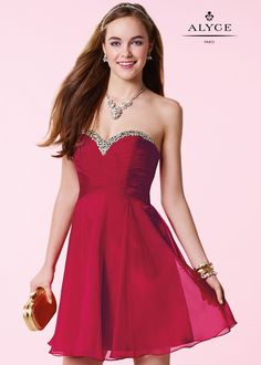 Alyce 3642 Crystal Beaded Chiffon Short Dress Prom Party Dresses 6a060e642