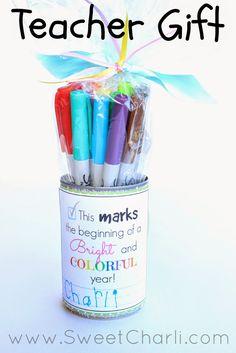 Sweet Charli: Teacher Gift - Sharpie Markers