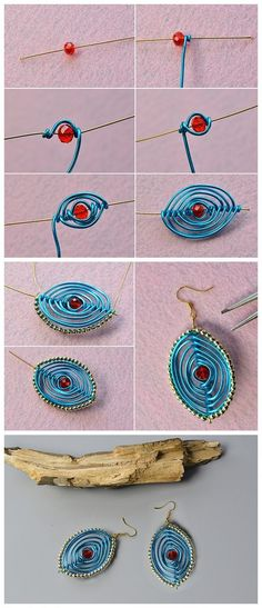 Have you been considering hand crafted DIY jewelry? Have you thought about figuring out how to make these designs for yourself? Learn the different methods needed to design rings, necklaces and much more for yourself and to share if you wish. Leather Jewelry, Metal Jewelry, Beaded Jewelry, Jewellery, Wire Crafts, Jewelry Crafts, Bead Crafts, Bijoux Fil Aluminium, Micro Macramé