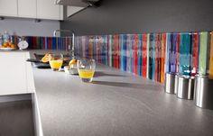 Stripe Multicolour Fused Glass Splashback | Flickr - Photo Sharing!
