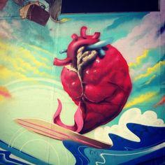 Corazón surfero