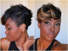 Get Ready With me: Adding color to my pixie cut =) Quick and Easy plus M...