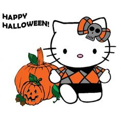 halloween hello kitty Hello Kitty Pumpkin, Hello Kitty Art, Sanrio Hello Kitty, Here Kitty Kitty, Hello Kitty Halloween, Halloween Cat, Happy Halloween, Halloween Favors, Halloween Coloring Pages