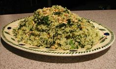 Spinach And Onion Couscous Recipe...(add portabella mushrooms too -yum :)