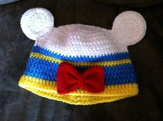 Donald Duck crocheted Mickey hat