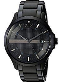 302af8a1ad00 Armani Exchange Men s AX2104 Black Watch Donas