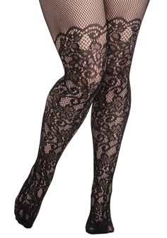 3f4a2b22bfd9b Intricately Exquisite Tights in Plus Size | Mod Retro Vintage Tights |  ModCloth.com Black