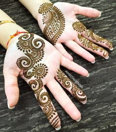 DM or 📧 amritahenna for Wedding Henna and Henna Party Bookings! DM or 📧 amritahenna for Wedding Henna and Henna Party Bookings! Mehndi Designs For Kids, Indian Mehndi Designs, Mehndi Designs For Beginners, Mehndi Design Pictures, Mehndi Designs For Fingers, Unique Mehndi Designs, Beautiful Henna Designs, Latest Mehndi Designs, Mehandi Designs