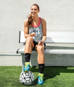 Alex Morgan, sponsored by Chobani