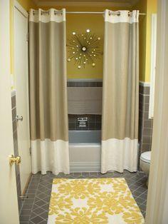 GREAT Idea for main floor bathroom.  two shower curtains. Thanks, @Kathy Goldenbogen