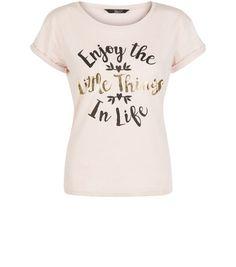 Teens Pink Enjoy The Little Things Print Top | New Look