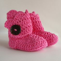 Pink Infant Crochet Shell Wrap Boots Choose Your by babybuttercup, $20.00