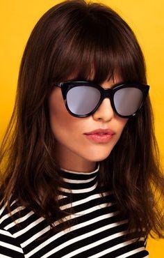 9563e088d2 Quay Australia Sunglasses Isabell Black Tortoise Shell Silver Mirror - The  Style Merchant Stylish Sunglasses