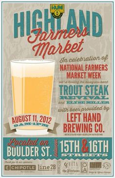 Event: National Farmers' Market Week Celebration at Highland Farmers Market. Beautiful vintage idea for design! Graphic Design Posters, Graphic Design Typography, Graphic Design Illustration, Poster Designs, Ad Design, Branding Design, Print Design, Design Ideas, Marketing Poster