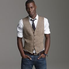 j. Crew vest (wear with BR brown slacks)?