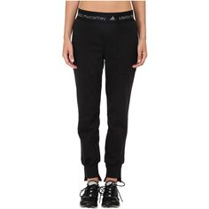 adidas by Stella McCartney Essential Sweatpants AA7022 Women's... (325 RON) ❤ liked on Polyvore featuring activewear, activewear pants, black, relaxed fit sweatpants, zippered sweat pants, adidas activewear, black sweat pants and cotton sweat pants