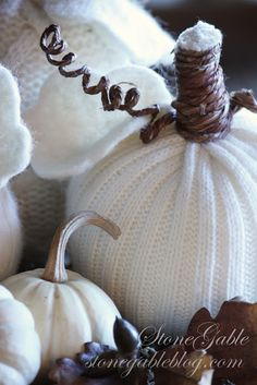 Could make these with thrifted sweaters and dollar store pumpkins